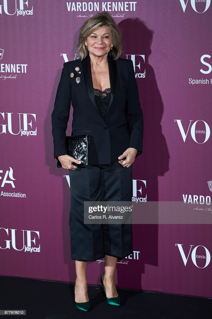 Cari Lapique attends the 'Vogue Joyas' awards 2017 at the Santona Palace on November 23, 2017 in Madrid, Spain.