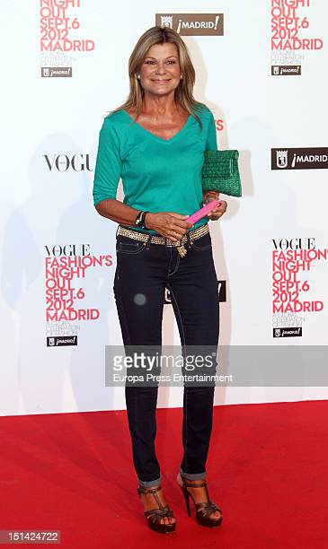 Cari Lapique attends Vogue Fashion Night Out Madrid 2012 on September 6 2012 in Madrid Spain