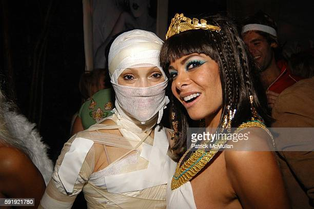 Cari Modine and Allison Sarofim attend Allison Sarofim's 2005 Halloween Party at West Village on October 29 2005 in New York City
