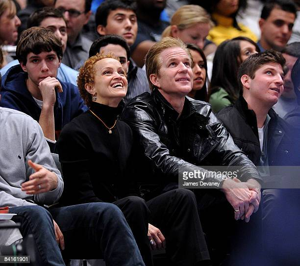 Cari Modine and Matthew Modine attend Indiana Pacers vs New York Knicks game at Madison Square Garden on January 2 2008 in New York City
