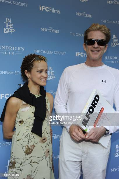 Cari Modine and Matthew Modine attend THE CINEMA SOCIETY THE NEW YORKER host a screening of IN THE LOOP at IFC Center on July 13 2009 in New York
