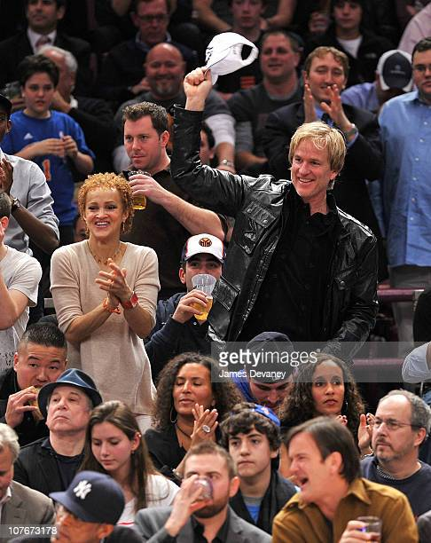Cari Modine and Matthew Modine attend the Miami Heat vs New York Knicks game at Madison Square Garden on December 17 2010 in New York City