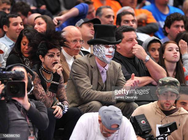 Cari Modine and Matthew Modine attend the Trail Blazers vs NY Knicks Game at Madison Square Garden on October 30 2010 in New York City