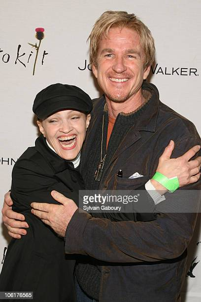 Cari Modine and Matthew Modine during Johnnie Walker Dressed to Kilt 2007 Arrivals and Fashion Show at Capitale at 130 Bowery in New York City New...
