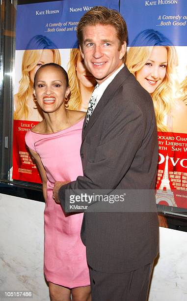 Cari Modine and Matthew Modine during Le Divorce New York Premiere Inside Arrivals at Paris Theater in New York City New York United States