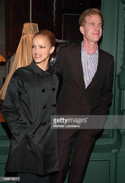 Cari Modine and Matthew Modine during Prada Waist Down Skirts By Miuccia Prada New York Exhibition and Store Opening April 18 2006 at Prada Epicenter...
