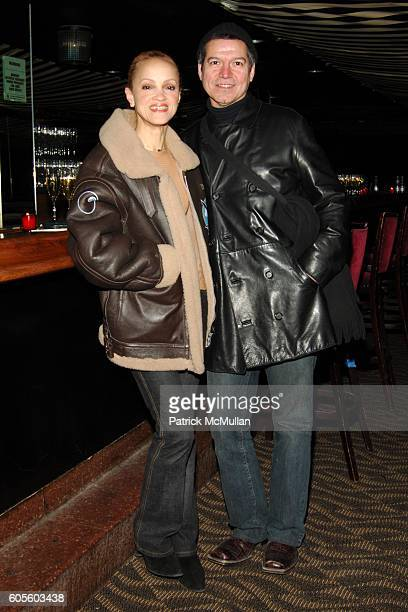 Cari Modine and Ogelio Velanco attend ADIDAS Y3 Autumn / Winter 2006 Collection at Roseland Ballroom on February 8 2006 in New York