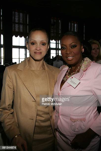 Cari Modine and Star Jones attend Authors In Kind 2005 God's Love We Deliver Hosts It's 2nd Annual Luncheon at The Rainbow Room on April 12 2005 in...