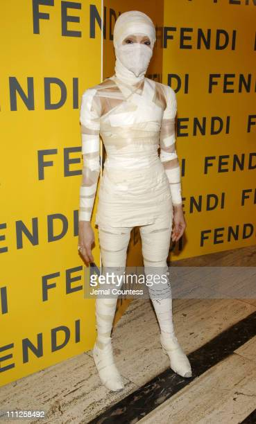 Cari Modine during Fendi Presents The All Hollows Eve Party at 25 Broadway in New York City New York United States