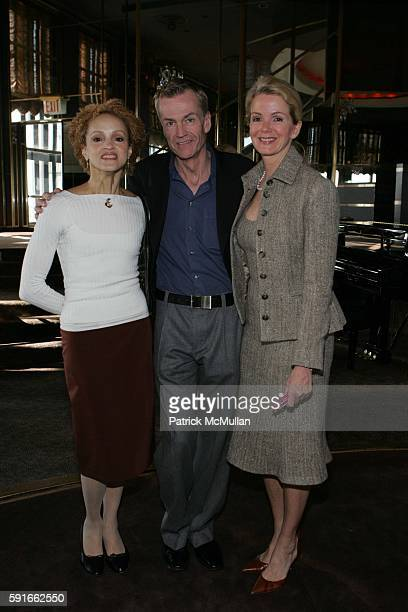 Cari Modine Keith Berg and Blaine Trump attend God's Love We Deliver Holiday Catalog Shopping Luncheon at The Rainbow Room on November 30 2005 in New...