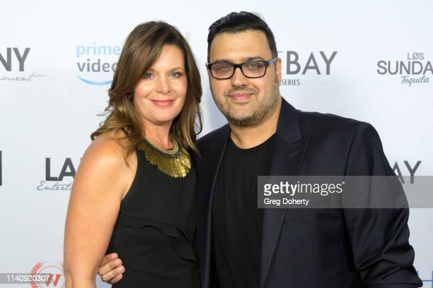 Cari Shayne and Gregori J Martin attend The Bay The Series PreEmmy Red Carpet Celebration at The Shelby on May 2 2019 in Los Angeles California