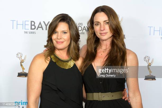 Cari Shayne and Sharon McNeil attend The Bay The Series PreEmmy Red Carpet Celebration at The Shelby on May 2 2019 in Los Angeles California