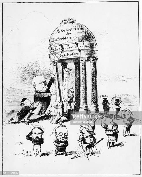 Cariature on social policy of Otto von Bismarck