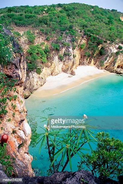 Caribbean, Anguilla, Cove Bay Beach, High angle view of a beach