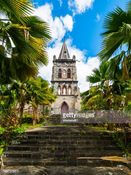caribbean, antilles, dominica, roseau, cathedral of our lady of fair haven - dominica stock pictures, royalty-free photos & images