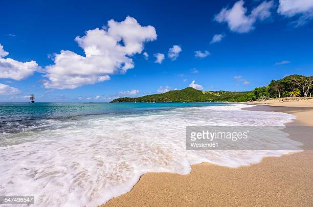 Caribbean, Antilles, Lesser Antilles, Grenadines, Union Island, Sailing ship