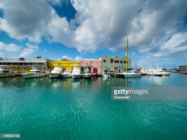 caribbean, barbados, bridgetown, harbor at independence square - bridgetown barbados stock photos and pictures