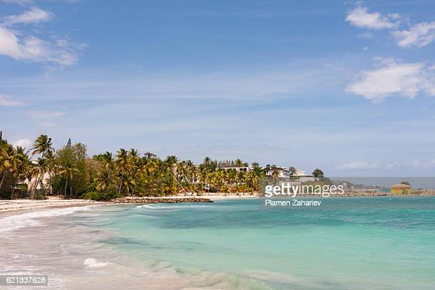Caribbean beach in Guadeloupe, France