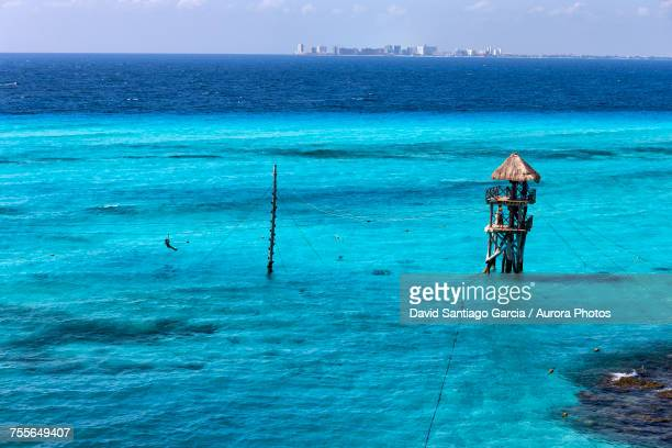 caribbean beach, isla mujeres, yucatan, mexico  - isla mujeres stock pictures, royalty-free photos & images