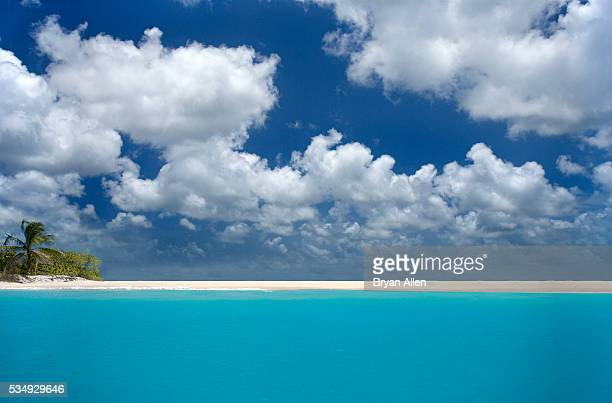 Caribbean beach on Barbuda's west coast