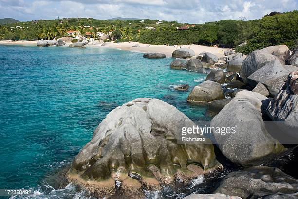 playa caribe - islas de virgin gorda fotografías e imágenes de stock