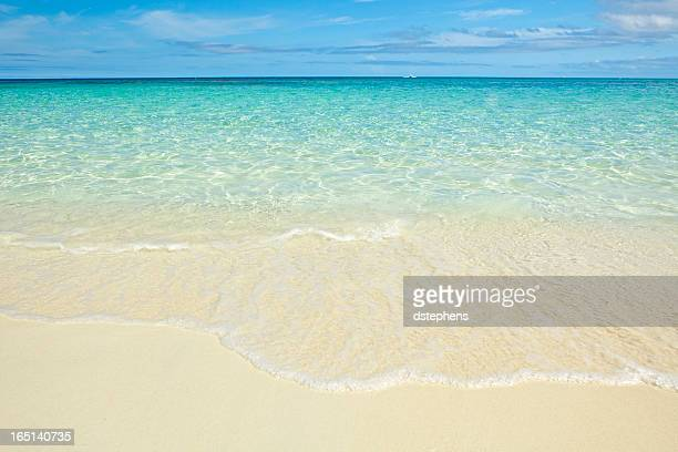 Olas en la playa del caribe