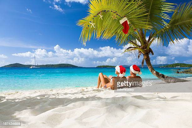 caribbean christmas - beach christmas stock pictures, royalty-free photos & images