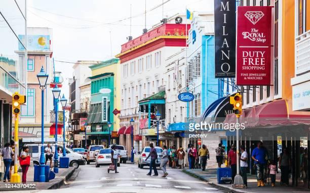"caribbean city - bridgetown, barbados - ""peeter viisimaa"" or peeterv stock pictures, royalty-free photos & images"