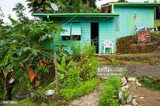 カリブ海のコテージ - トリニダードトバゴ共和国 ストックフォトと画像