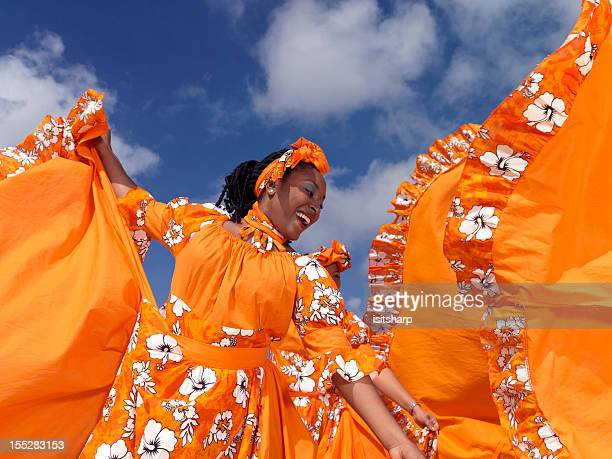 caribbean dancers - caribbean culture stock pictures, royalty-free photos & images