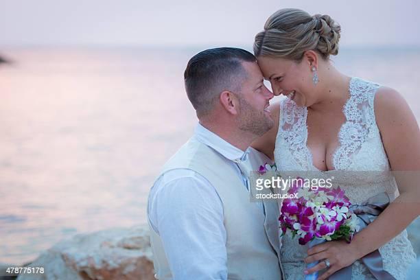 Caribbean destination wedding photos