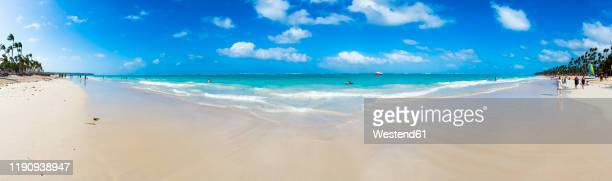 caribbean, dominican republic, punta cana, panoramic view of playa del cortecito - 360 fotografías e imágenes de stock