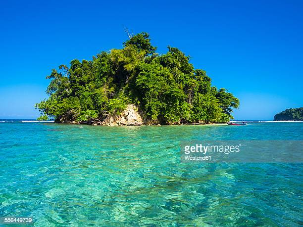 Caribbean, Greater Antilles, Jamaica, Portland Parish, Port Antonio, View to Pellew Island