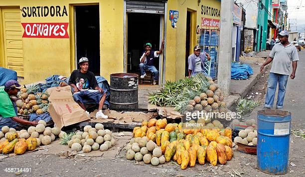 Caribbean market scene.