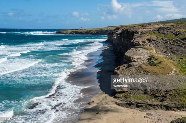 caribbean, netherland antilles, st. eustatius, coast - シント・ユースタティウス島 ストックフォトと画像