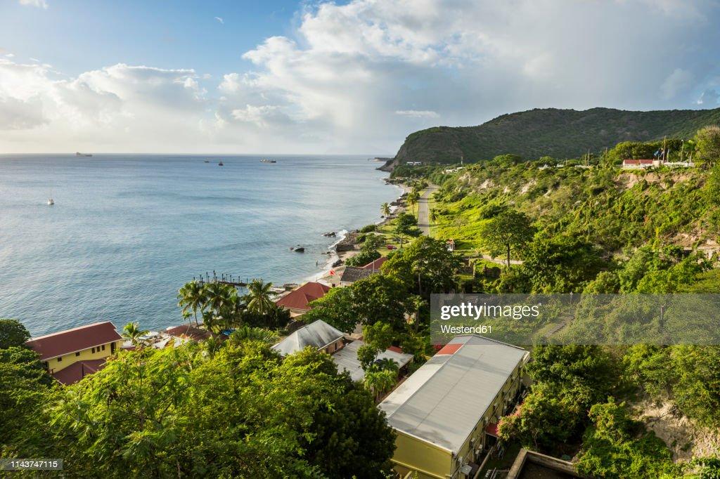 Caribbean, Netherland Antilles, St. Eustatius, Oranjestad bay : ストックフォト