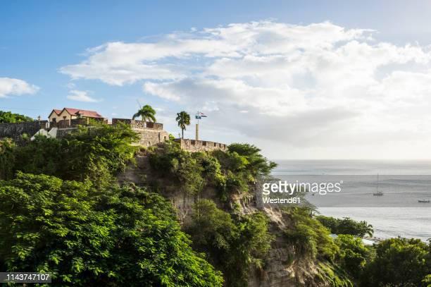 caribbean, netherland antilles, st. eustatius, oranjestad, fort oranje - シント・ユースタティウス島 ストックフォトと画像