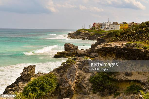 caribbean ocean scenery - isla mujeres stock photos and pictures