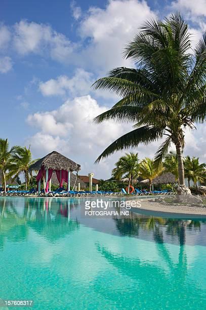 caribbean resort - gazebo stock pictures, royalty-free photos & images