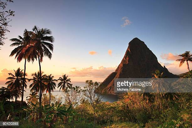 caribbean, saint lucia, gros piton  - st. lucia stock pictures, royalty-free photos & images
