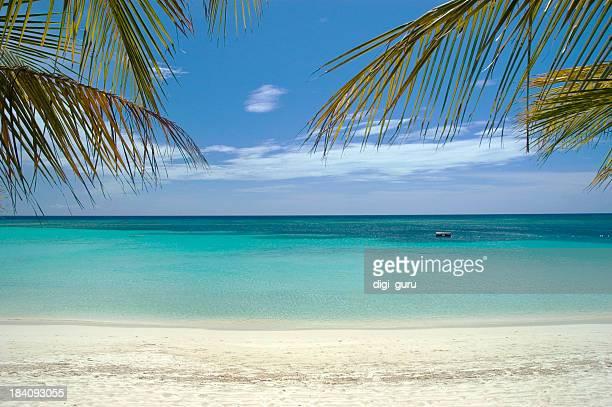 Caribbean Sea and white sand beach