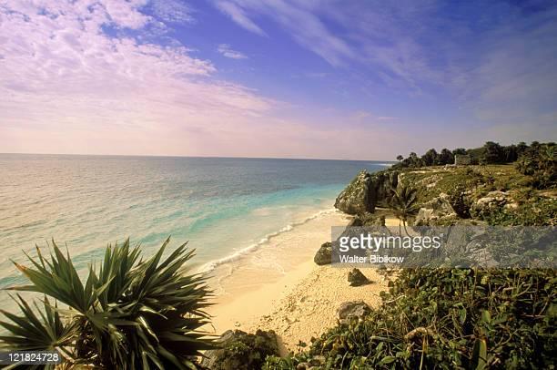 caribbean sea, tulum, yucatan, mexico - yucatan stock pictures, royalty-free photos & images