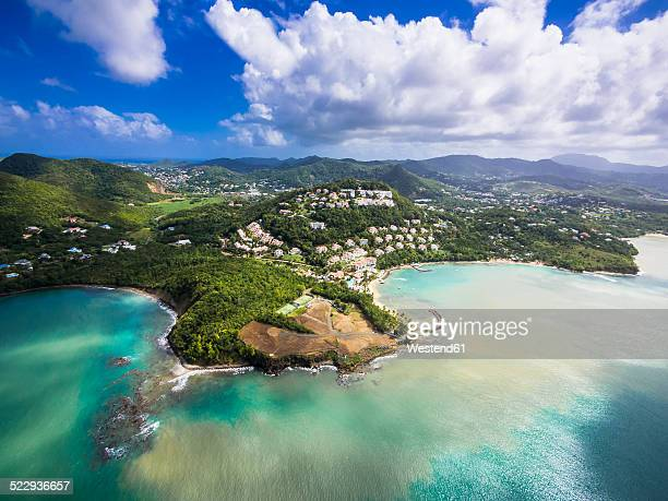 Caribbean, St. Lucia, Choc Bay, aerial photo