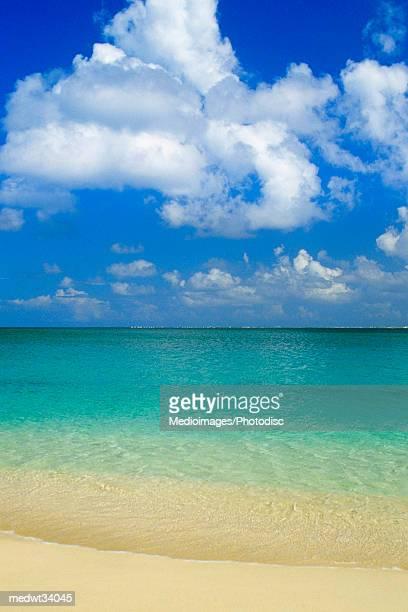 Caribbean, St. Martin, Cupecoy Beach, Tropical beach and surf