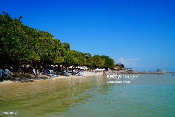 Caribbean Style Beach at The Corales del Rosario and San Bernardo National Natural Park, Baru, Cartagena, Bolivar, Colombia