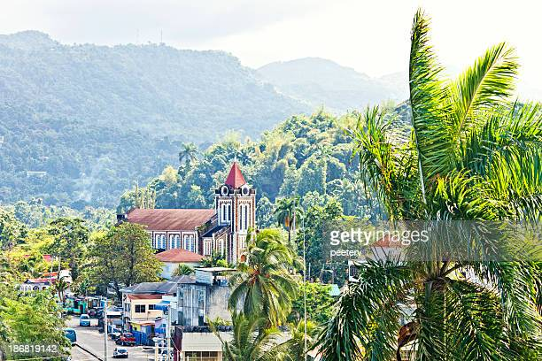 caribbean town. - jamaica stock pictures, royalty-free photos & images