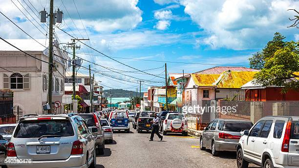 Caribbean town. St John's, Antigua & Barbuda.