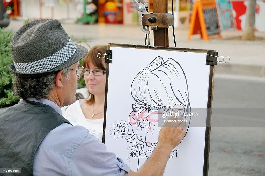 Caricature Artist : Stock Photo