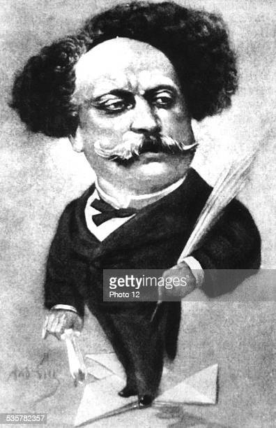 Caricature by Gill Alexandre Dumas fils 19th century France