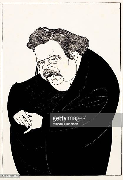 Caricature by Powys Evans before 1926 of GK Chesterton one of the most influential English writers of the 20th century His prolific and diverse...